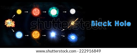 Black hole - stock photo