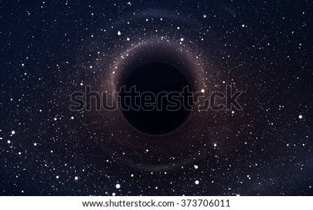 Black hole in deep space, glowing mysterious universe. Elements of this image furnished by NASA - stock photo