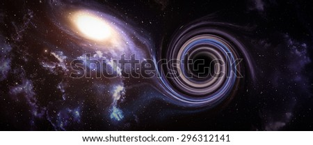Black hole in space. Abstract background. - stock photo