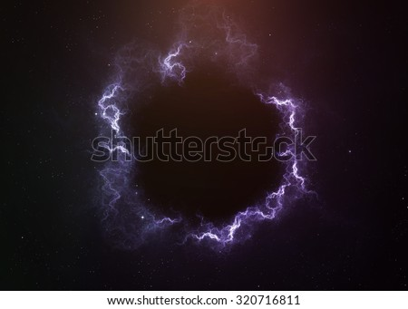 Black hole in space. Elements of this image furnished by NASA - stock photo