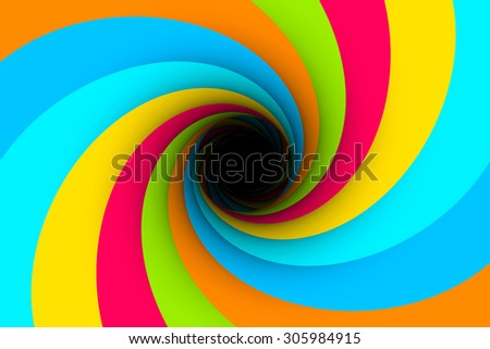 black hole multicolored background vortex 3d illustration