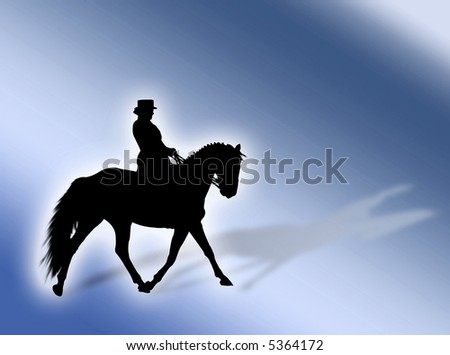 Black horse silhouette as symbol of equitation