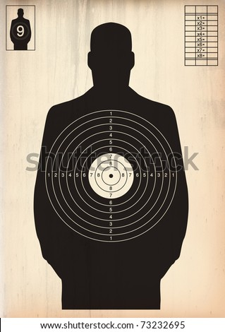 Black human target - stock photo