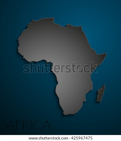 black Image African continent. Africa Icon Vector Picture Graphic - stock photo