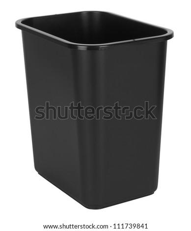 Black Indoor Waste Bin - stock photo