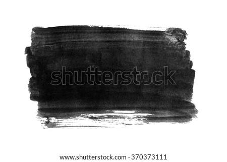 Black ink background painted by brush. Illustration - stock photo