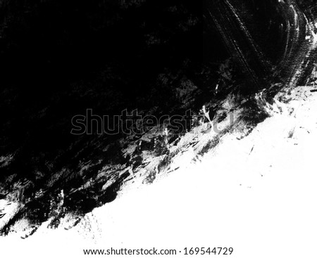 Black ink design on white background - stock photo