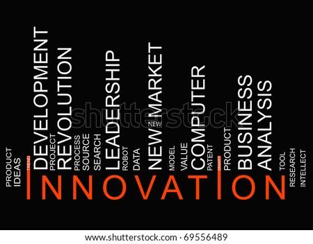 black innovation bar-code - stock photo