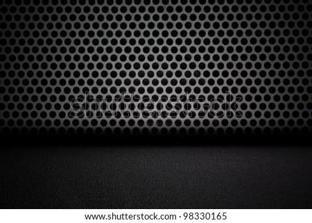 Black interior background - stock photo
