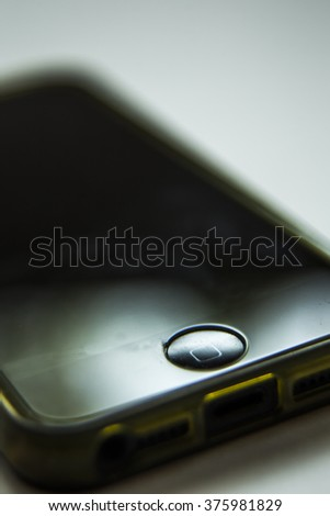 Black Iphone  cracked - stock photo