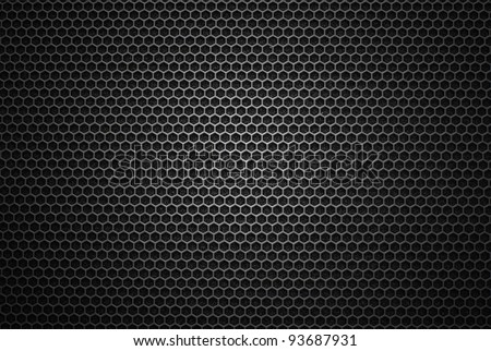 Black iron speaker grid texture. Industrial background. - stock photo