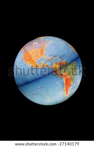 black isolated Earth - stock photo
