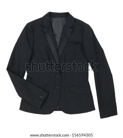 black  jacket isolated on white background