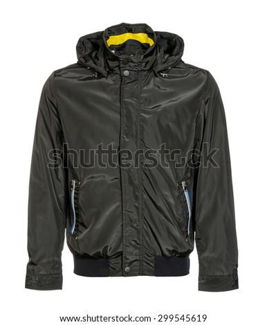 black jacket on a white background - stock photo