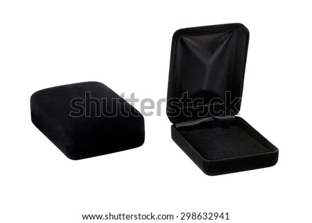 black jewelry box.The eternal collection - stock photo