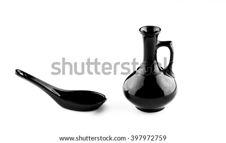 black jug on white background