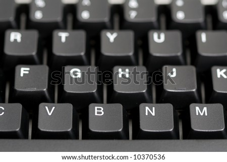 Black keyboard with selective focusing