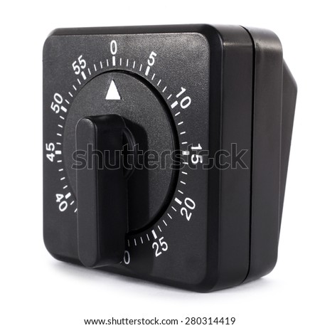 Black kitchen timer - stock photo
