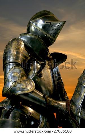 Black knight Musee de l'Armee Paris France - stock photo