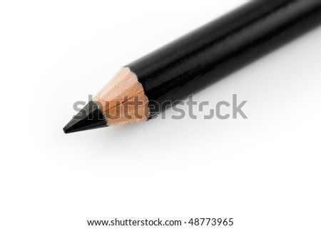 black kohl eye liner pencil - stock photo