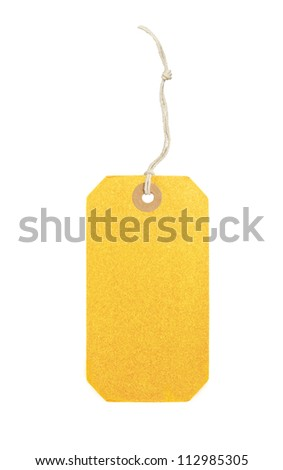 black label (tag) isolated on white background - stock photo