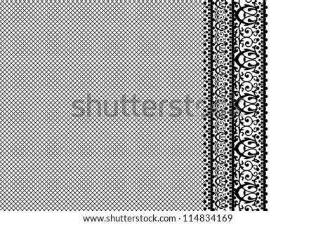 Black lace background - stock photo