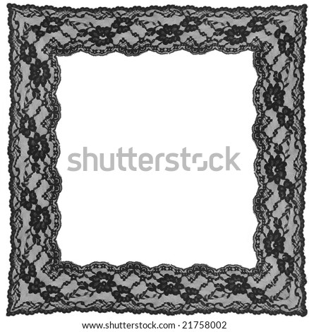 black lace frame