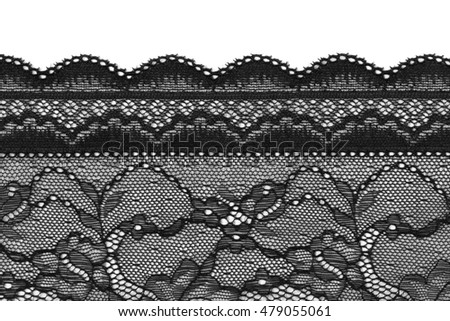 Black lace, isolate on a white
