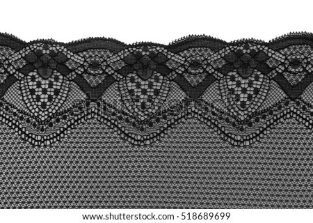 Black lace, isolate on a white background