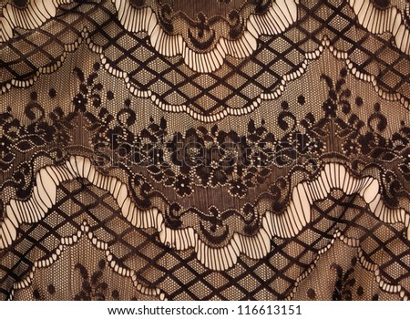 Black lace texture - stock photo