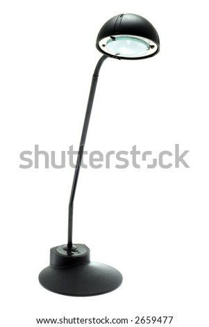 Black lamp on a white background