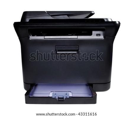 black laser printer in the phase - stock photo