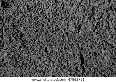 Black Lava texture - stock photo
