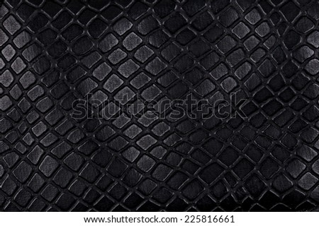 Black leather, a background or texture - stock photo