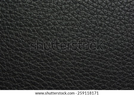 Black leather as natural background - stock photo