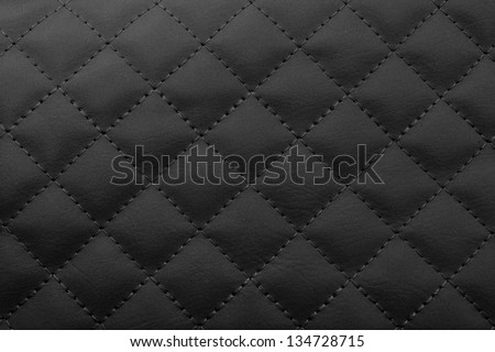 Black leather background,Brown leather  texture. - stock photo