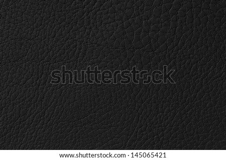Black leather background or texture - stock photo