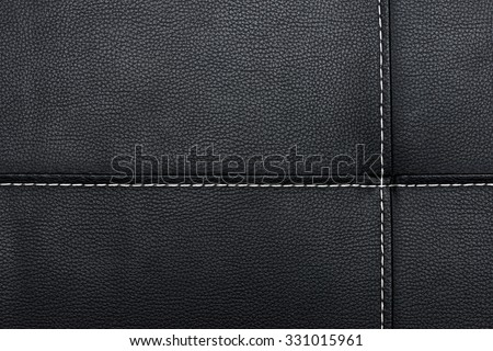 black leather background or textures - stock photo