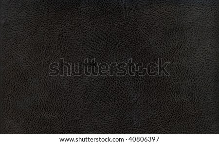 black leather background textured with deep graining patterns - stock photo