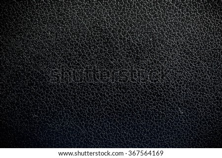 Black Leather, Genuine Leather Textured. Concept and Idea of Fine Leather Crafting, Handmade Leather Handcrafted, Background, Pattern and Wallpaper. - stock photo