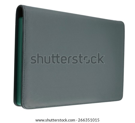 Black leather tablet - stock photo