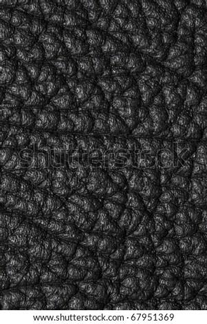 black leather texture macro - stock photo
