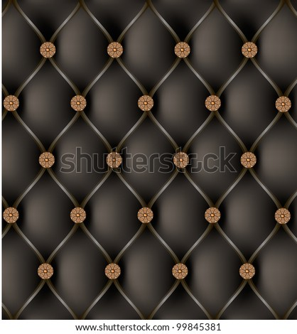black leather with a diamond shaped decorative studs - stock photo