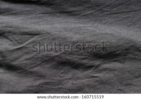 Black linen textured effect as abstract background. - stock photo