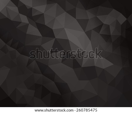 black low poly background with diamond facet or crystals texture concept - stock photo