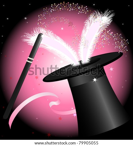 black magic hat - stock photo