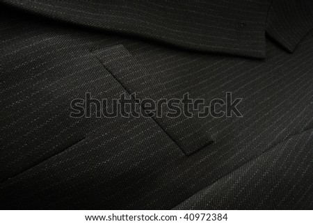 Black male suit close-up like a background