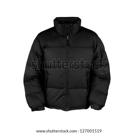 black male winter vest isolated - stock photo