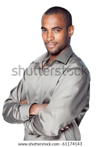 black man beauty portrait - stock photo