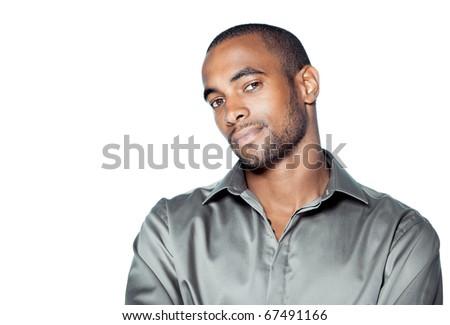 black man portrait - stock photo